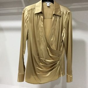 Cache Gold Satin Blouse